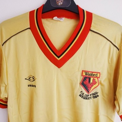 "Watford FC FA Cup Final Home Shirt 1984 (S) ""Good"""