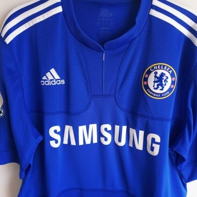 "Chelsea FC Home Shirt 2009-2010 #11 Drogba (M) ""Very Good"""