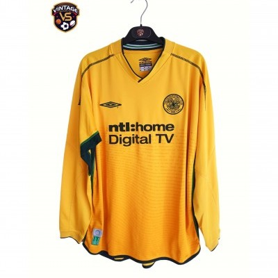 "Celtic Glasgow FC Away Long Sleeve Shirt 2002-2003 (L) ""Good"""
