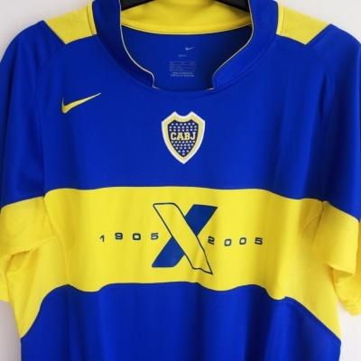 """Boca Juniors Centenary Home Shirt 2005 (XL Youths) """"Very Good"""""""