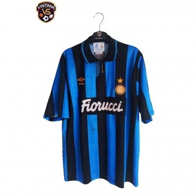 "Signed Inter Milan Home Shirt 1992-1994 (L) ""Very Good"""