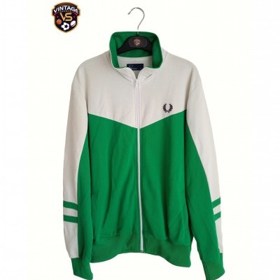 "Fred Perry Track Top Jacket Green White (XL) ""Very Good"""