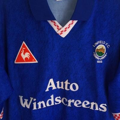 "Linfield FC Home Shirt 1996-1997 #10 McBride (M) ""Very Good"""