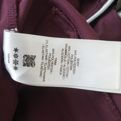 "Fred Perry Jacket Track Top Burgundy Black (XL Youths) ""Very Good"""