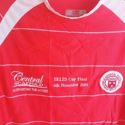 "Hamilton Academical FC Cup Shirt 2005 (S) ""Very Good"""