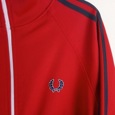 "Fred Perry Track Top Jacket Red Black (M) ""Good"""