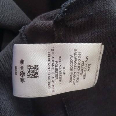 "Fred Perry Jacket Track Top Black White (M Youths) ""Very Good"""