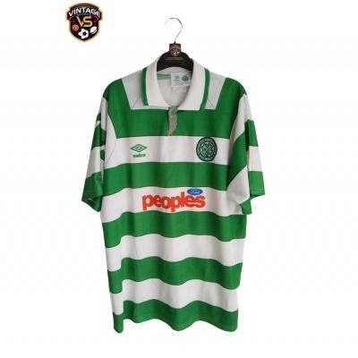 "Celtic FC Home Shirt 1991-1992 (L) ""Very Good"""