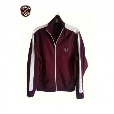 "Fred Perry Track Top Jacket Burgundy White (L Youths) ""Very Good"""
