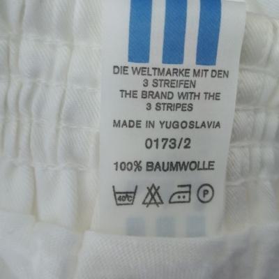 NEW Vintage Shorts Adidas 1980s White Blue Beckenbauer (S)