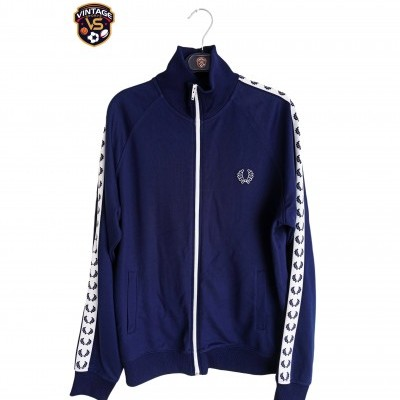 "Fred Perry Track Top Jacket Blue (M) ""Very Good"""