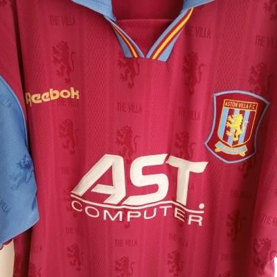 "Aston Villa FC Home Shirt 1995-1997 (L) ""Very Good"""