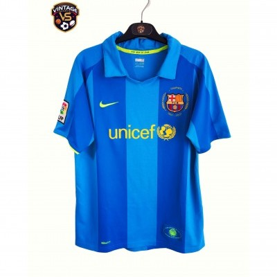 "FC Barcelona Away Shirt 2007-2008 (XL Youths) ""Very Good"""