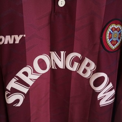 "Heart of Midlothian Hearts FC Home Shirt 1995-1997 (XXL) ""Good"""