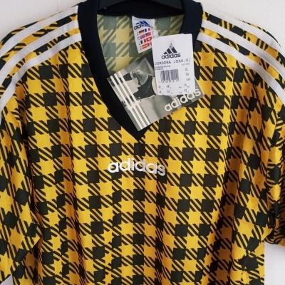 NEW Vintage Adidas Cordoba Shirt Yellow Black (M)