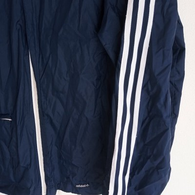 """Vintage Adidas Windbreaker Rain Jacket Blue (L) """"Very Good"""""""