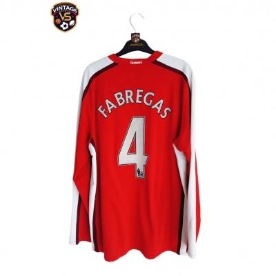 "Arsenal FC Home Shirt L/S 2008-2010 #4 Fabregas (XL) ""Very Good"""