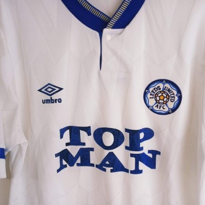 "Leeds United FC Home Shirt 1990-1991 (M) ""Very Good"""