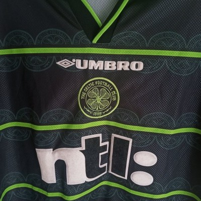 "Celtic Glasgow FC Away Shirt 1999-2000 (M) ""Very Good"""