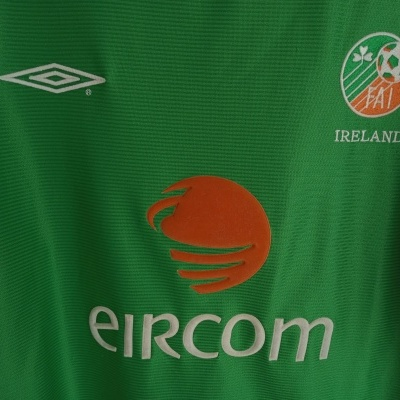 "Republic of Ireland Home Shirt 2002 (L) ""Very Good"""