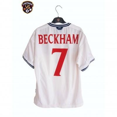 "England Home Shirt 1999-2001 #7 Beckham (M) ""Perfect"""