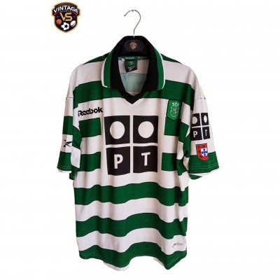 "Sporting CP Home Shirt 2000-2001 (M) ""Good"""