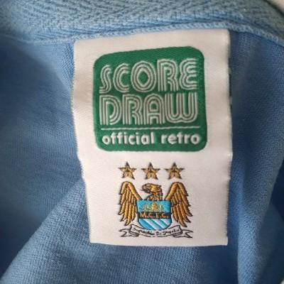 """Retro Manchester City Home Shirt 1976 (M) """"Very Good"""""""