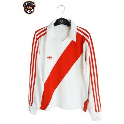 "Retro Adidas Football Shirt River Plate Peru Style (S) ""Very Good"""