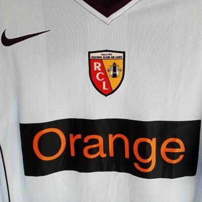 """RC Lens L/S Away Shirt 2004-2005 (XL) """"Very Good"""""""
