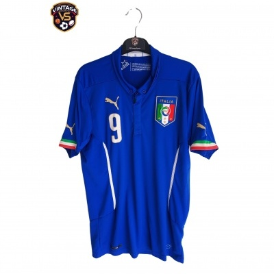 "Italy Home Shirt 2014-2016 #9 Balotelli (S) ""Very Good"""