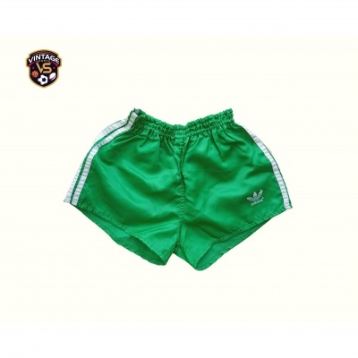 "Vintage Shorts Adidas 1990s Green White (176 / 32"") ""Very Good"""