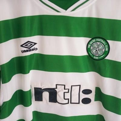"Celtic Glasgow FC Home Shirt 1999-2001 (XXL) ""Very Good"""