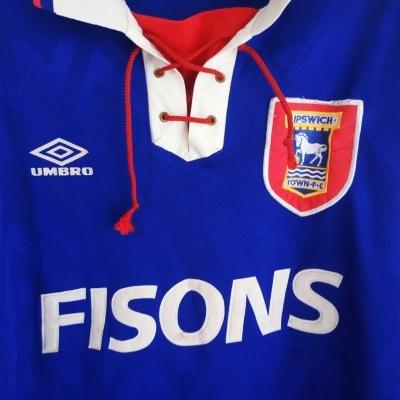 """Ipswich Town FC Home Shirt 1992-1994 (L) """"Good"""""""