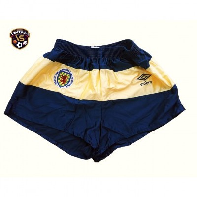 "Matchworn Scotland Football Away Shorts 1985-1988 ""Very Good"""