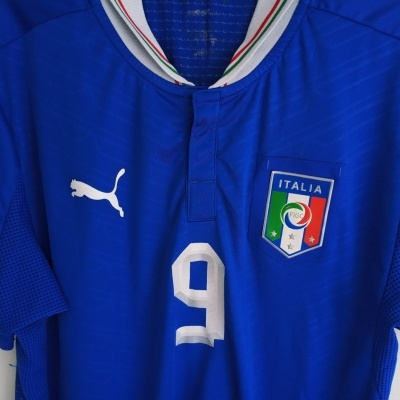"Italy Home Shirt 2012-2013 #9 Balotelli (S) ""Very Good"""