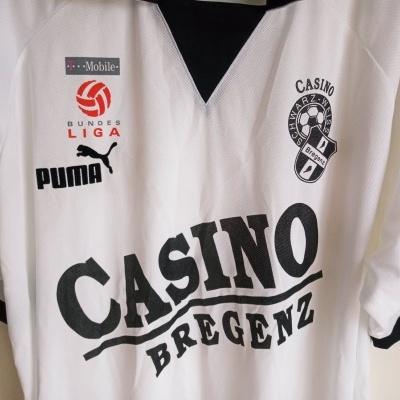 """Casino Schwarz Weiss Bregenz Home Shirt 2003 (XXL) """"Very Good"""""""