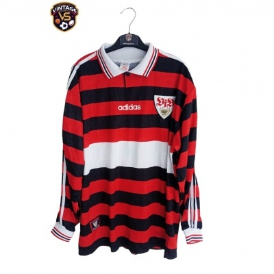 """VFB Stuttgart Away Shirt L/S 1997-1999 #18 Klinsmann (XL) """"Very Good"""""""
