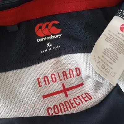 "England Rugby Away Shirt 2016-2017 (XL) ""Very Good"""