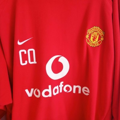 "ISSUE Manchester United Training Shirt Carlos Queiroz 2002 (XL) ""Very Good"""