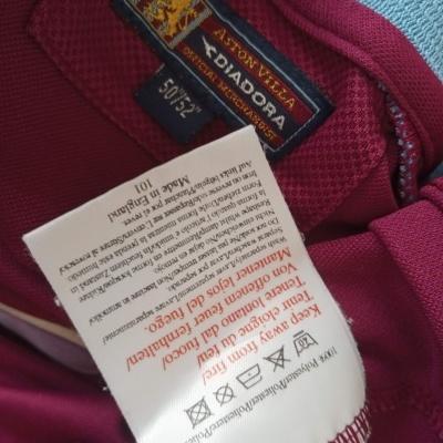 "Aston Villa FC Home Shirt L/S 2001-2002 (XXL) ""Good"""