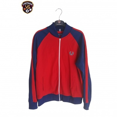 "Fred Perry Track Top Jacket Red Blue (M) ""Very Good"""