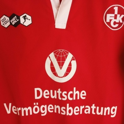 "1.FC Kaiserslautern Home Shirt 2009-2010 #5 Amedick (S) ""Very Good"""