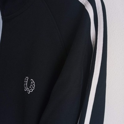 """Fred Perry Jacket Track Top Black (L) """"Very Good"""""""