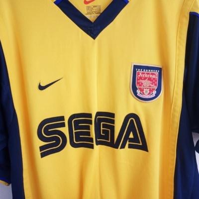 "Arsenal FC Away Shirt 1999-2000 (S) ""Very Good"""