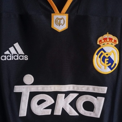 "Real Madrid Away Shirt 1999-2001 (XL) ""Very Good"""