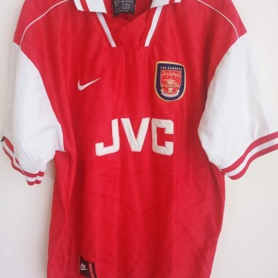 """Arsenal FC Home Shirt 1996-1998 (L) """"Good Condition"""""""