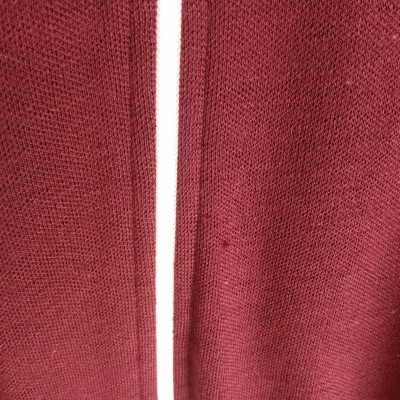 "Fred Perry Cardigan Zip Jumper Jacket Burgundy Wool (L) ""Good"""