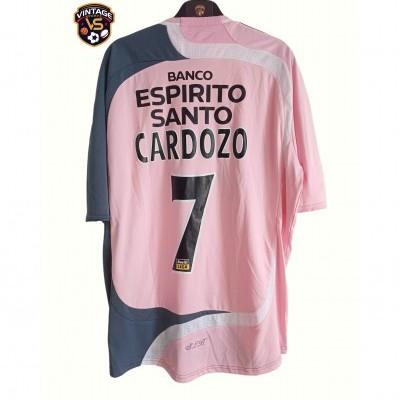 "SL Benfica Away Shirt 2007-2008 #7 Cardozo (L) ""Very Good"""