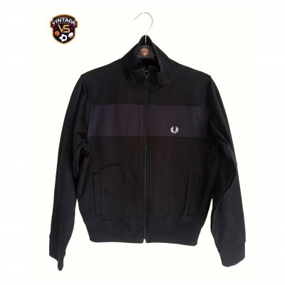 "Fred Perry Track Top Jacket Black (L Youths) ""Perfect"""