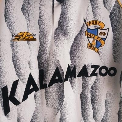 """Matchworn Port Vale FC Home Shirt 1991-1992 #7 (XL) """"Very Good"""""""